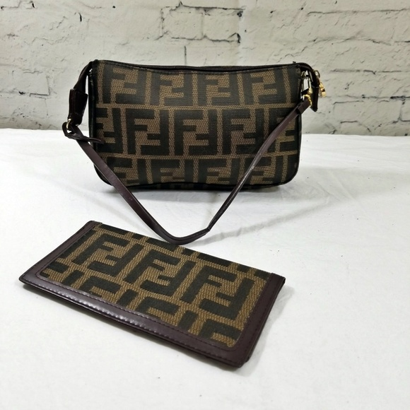 Fendi Handbags - AUTHENTIC Vintage Fendi Nylon Zucca Mini Pochette 1784698766e30